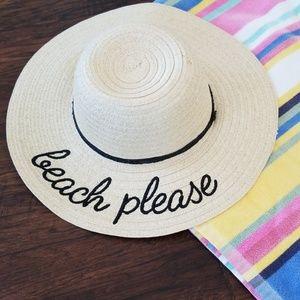 Accessories - Straw Beach Hat One Size  NWT